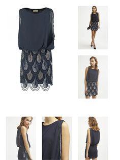 5055443596677 | #Lace  #038; #Beads #SHARON #ANGELA #Cocktailkleid / #festliches #Kleid #navy #für #Damen