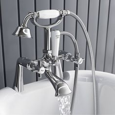 interior design bath mixer taps with shower attachment glass inserts great value chrome finish easy grip hollow handle suitable for low Bath Shower Mixer Taps, Bathroom Taps, Bathroom Ideas, Bathrooms, Traditional Baths, Traditional Bathroom, Double Ended Bath, Bath Design, Chrome Finish