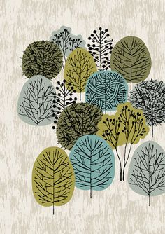 Eloise Renouf. good illustration of different ways to draw trees for elementary