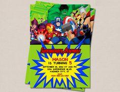 Superhero Birthday Invitation by PerfectPrintsStudio on Etsy, $5.00