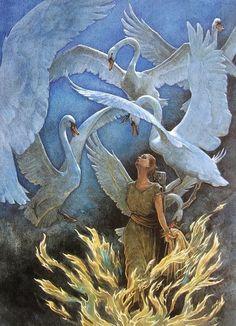 PJ Lynch Gallery: The Candlewick Book of Fairytales, The six swans, Irish illustrator