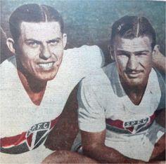 Barrios e Teixeirinha. Crédito: Jornal A Gazeta Esportiva Nº 1124 - 05 de maio de 1945.