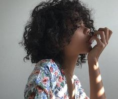 aesthetic, curly hair, and beauty image Short Curly Hair, Curly Girl, Curly Hair Styles, Natural Hair Styles, Natural Curls, Black Girl Aesthetic, Aesthetic Hair, Hair Inspo, Hair Inspiration
