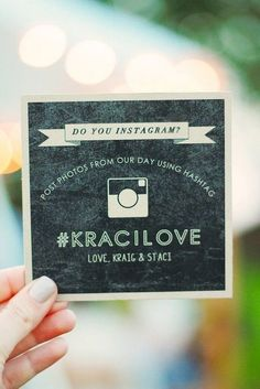 Get inspired with our favorite wedding hashtag ideas, plus five tips from an expert wedding planner on how to create your own! Instagram Party, Instagram Wedding, Instagram Sign, Wedding Signs, Diy Wedding, Dream Wedding, Wedding Day, Hashtag Wedding, Woodland Wedding