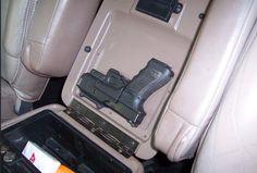 Bad idea… The post Wanna hide a gun in your car? Here's a few ideas Photos) appeared first on . Weapon Storage, Gun Storage, Vehicle Storage, Truck Storage, Car Holster, Holsters, Pistol Holster, Revolver, Hidden Gun