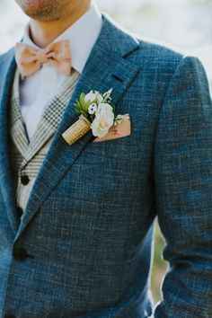 Handmade Floral Corduroy Bow Tie by the Belfast Bow Company Navy Tweed Suit Check Waistcoat Dapper Groom