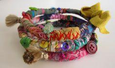 fabric bracelets, boho fashion