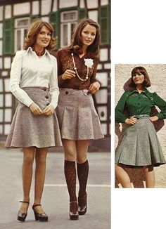 1974 tweed skirt fashions by retro-space, via Flickr