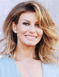 """Cute hair for """"older"""" gals ;)  Faith Hill Celebrates 47th Birthday  #InStyle"""