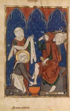 Gardecorps, shorts arms. Livre d'Images de Madame Marie Fr (1285-90) 103v