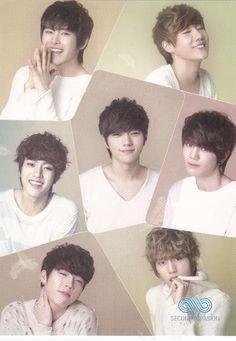 Sunggyu, Woohyun, Dongwoo, Hoya, Sungyeol, Myungsoo,Sungjong