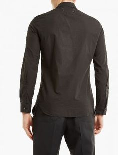 Maison Margiela Black Garment-Dyed Shirt The Maison Margiela Garment-Dyed Shirt, seen here in black. - Garment-dyed for a saturated finish, this shirt from Maison Margiela is crafted from premium cotton and finished with the brand™s signatur http://www.MightGet.com/january-2017-13/maison-margiela-black-garment-dyed-shirt.asp