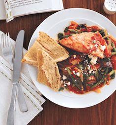 Self: Feta Chicken With Greek Vegetables.