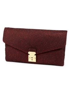 Glitter lock clutch bag in the hottest color of the season #burgundy $30