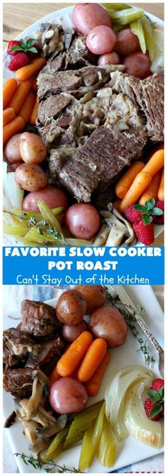 Favorite Slow Cooker Pot Roast (Can't Stay Out Of The Kitchen) Slow Cooker Roast, Crock Pot Slow Cooker, Slow Cooker Recipes, Crockpot Recipes, Italian Pot Roast, Best Pot Roast, Roast Dinner, Pot Roast Recipes, Beef And Noodles