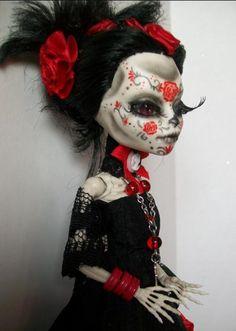 Monster High Custom OOAK Day of The Dead Dia de Los Muertos Doll 'Sophia'