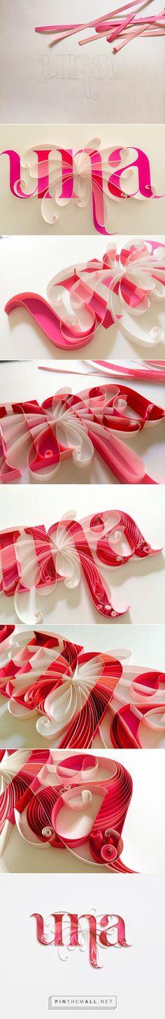 quilled word design technique https://www.behance.net/gallery/18016877/UNA-fm-961-LOGO UNA fm 96.1 LOGO on Behance - created via http://pinthemall.net Letras hechas en cartulina, papel de colores con efecto 3D
