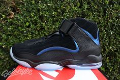 7b3804880719 NIKE AIR PENNY IV 4 SZ 13 BLACK BLUE HARDAWAY OG ORLANDO MAGIC 864018 001