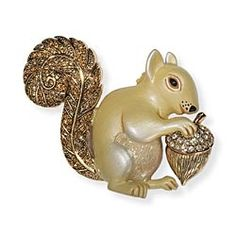 Jeweled Squirrel Brooch in {productContextTitle} from {brandTitle} on shop.CatalogSpree.com, your personal digital mall.