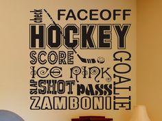 Hockey Wall Decor Decal