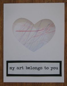 scribble card...love this idea!