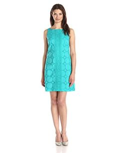 $55 Jessica Howard Women's Sleeveless Eyelet Dress, Teal, 8 Jessica Howard http://www.amazon.com/dp/B00UR9A7PW/ref=cm_sw_r_pi_dp_CtJ5vb1KRVBT6