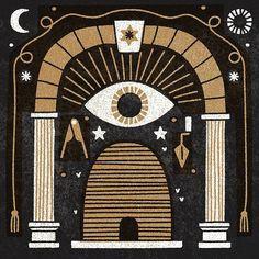 Shrouded in mystery #illustration #vector #icon #texture #vintage #masonic #symbols #bestvector #vectorart #designspiration #MUTI by studiomuti http://ift.tt/1YKxVKq
