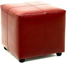 Roberto Red Cube Foot Stool-Furniture By Sabichi