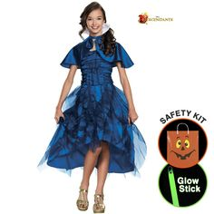 Girls Descendants Evie Coronation Deluxe Halloween Trick or Treat Safety Kit Large -- Awesome products selected by Anna Churchill