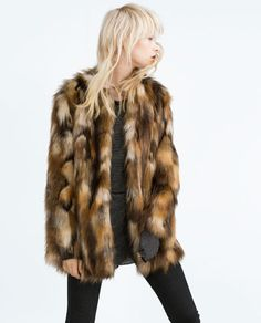 Image 4 of FAUX FUR JACKET from Zara