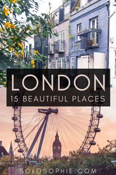 Places in London you wont' want to miss off your England bucket list. Looking for the most beautiful locations and streets in the UK capital city if London? Here's your complete guide to the best of beautiful places to visit