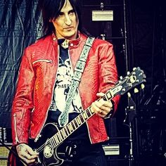 Last Sunday night in Berlin Germany Guns n Roses guitarist Richard Fortus with custom made leather strap handcrafted by EvilEve photo by: Richard Fortus, Guns And Roses, Sunday Night, Berlin Germany, Custom Photo, Custom Made, Guitar, Leather Jacket, Jackets