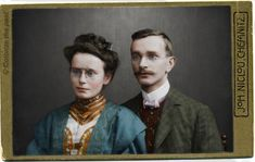 CDV Portrait of a young couple - Germany - c.1905