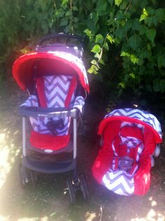 Chevron And Red Infant Car Seat Stroller Tiffany Pryor Boutique Facebook