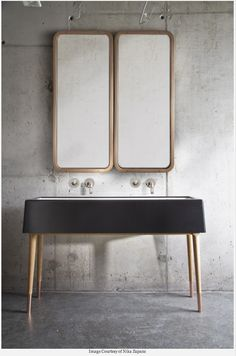 Love the brass mirrors and sink legs. dinder house ilse crawford | AS Aperitivo by Nika Zupanc 5