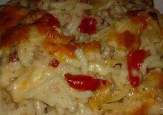 Húsos-sajtos tészta | Borostyán receptje - Cookpad receptek Meat Recipes, Cooking Recipes, Le Chef, Lasagna, Macaroni And Cheese, Food And Drink, Beef, Ethnic Recipes, Rooster