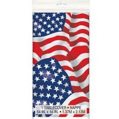 USA Flag Plastik Dug 137 x 213 cm - Single
