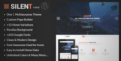 Download and review of Silent - One Page Multipurpose WordPress Theme, one of the best Themeforest Creatives themes