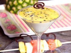 Passionspannacotta med lime och citrongräs