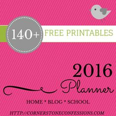 140+ Planner Printables for 2015 AND 2016