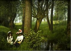 vintage everyday: Wonderful Autochrome Photographs of Belgium 100 Years Ago. Oh, to live in a painting.