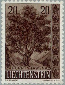 Sello: Maple (Liechtenstein) (Trees and bushes) Mi:LI 371,Yt:LI 333,Zum:LI 315