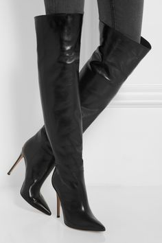 Gianvito Rossi Leather over-the-knee boots. THE OUTNET.COM