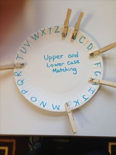 This craft addresses fine motor because it facilitates pinch and grasp patterns, in-hand manipulation, and the development of hand strength. It also provides the student with letter recognition. Alphabet Activities, Literacy Activities, Educational Activities, Preschool Activities, Activities For 4 Year Olds, Nanny Activities, Preschool Prep, Leadership Activities, Preschool Letters