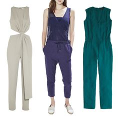 Solid jumpsuits to wear to a wedding.