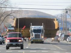 Bed of a Cat 795F Haul Truck being transported on the road in Elko NV