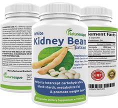White Kidney Bean Extract Effective Carb Blocker Premium Formula for Weight Loss 1500mg Blocks starch, carbs and metabolizes fat 60 capsules -- Awesome product. Click the image at  : Garcinia cambogia