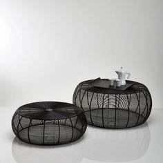 Set van 2 ronde salontafels in staaldraad bangor zwart La Redoute Interieurs | La Redoute