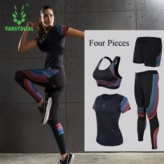 91.58$  Buy here - http://alirz6.worldwells.pw/go.php?t=32785648536 - Women's Compression Sets Running Sets Shirts Jackets Bras Shorts Pants for Yoga Joggers Gym Fitness Tights Sets