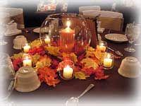 Autumn Leaves Fall Wedding Centerpiece Idea